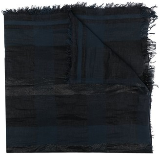 Fabiana Filippi Check-Print Frayed-Edge Scarf