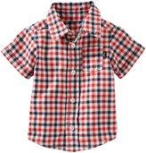 Osh Kosh Gingham Shirt (Baby) - Plaid - 18 Months