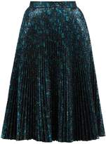 Prada Poppy-jacquard pleated skirt