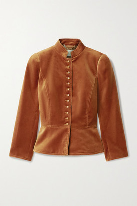 Tory Burch - Cotton-blend Velvet Jacket - Camel