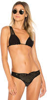 Beach Bunny Queen of Hearts Triangle Top in Black. - size L (also in M,S)
