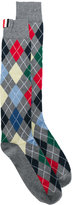 Thom Browne argyle pattern socks