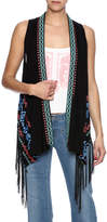 Umgee USA Embroidered Fringe Vest