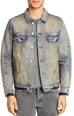 Purple Brand Classic Fit Denim Jacket in Indigo Oil