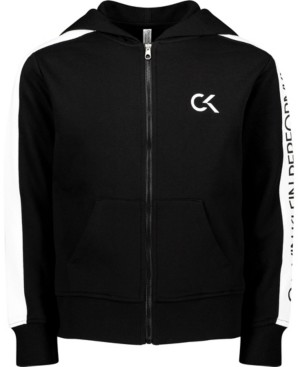 Calvin Klein Big Girls Colorblock Zip Hoodie