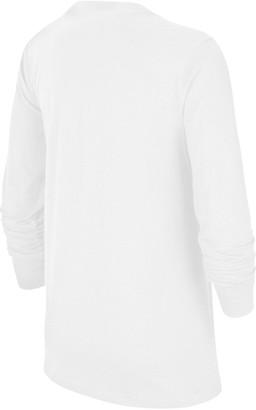 Nike Older Boys Futura T-shirt - White/Black