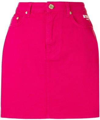 MSGM BOOM! slogan mini skirt