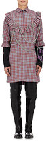 Vetements MEN'S PLAID COTTON EMBELLISHED TUNIC SHIRT