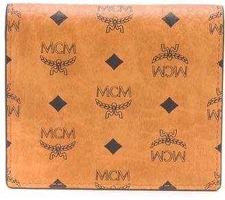 MCM Visetos logo-print wallet