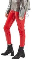 Topshop Women's Jamie Vinyl Skinny Jeans