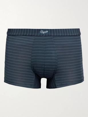 Ermenegildo Zegna Striped Stretch-Modal Boxer Briefs - Men - Blue