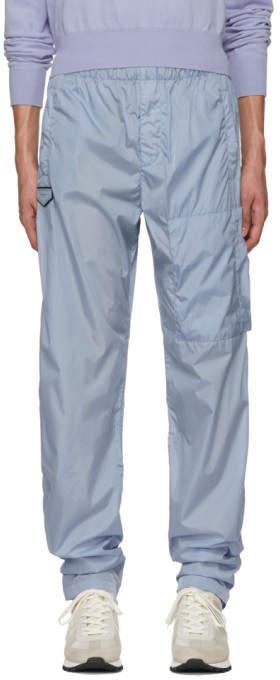 Givenchy Blue Nylon Jogging Lounge Pants