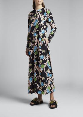 Double J Long-Sleeve Swing Dress