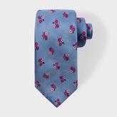 Paul Smith Men's Sky Blue Floral Silk Tie