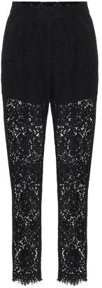 Dolce & Gabbana High-rise lace pants