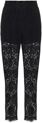 Dolce & Gabbana High-rise lace pants