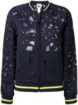 Twin-Set mesh bomber jacket - women - Polyester/Spandex/Elastane - XS