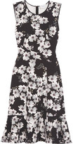 Erdem Jana Floral-print Stretch-crepe Dress - Black