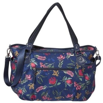 OiOi Tote Nappy Bag - Botanical Navy (7036) Navy