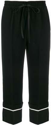 RED Valentino Drawstring Waist Cropped Trousers