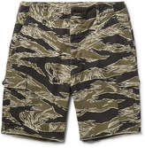 Wacko Maria Camouflage-print Cotton-ripstop Cargo Shorts - Army green