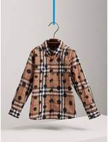 Burberry Polka-dot Check Cotton Shirt