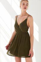 Ecote Strappy Surplice Fit + Flare Dress