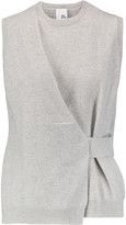 Iris and Ink Azura draped slub cashmere tank