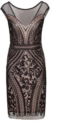 Vijiv 1920s Short Prom Dresses V Neck Inspired Sequins Cocktail Flapper Dress Black Beige