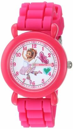 Disney Girls Fancy Nancy Analog-Quartz Watch with Silicone Strap
