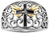 Silver Cross Fine Jewelry Forever Inspired Womens 2MM 18K Gold Over Band Family