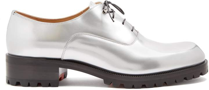 Christian Louboutin Sopeter tread-sole leather derby shoes