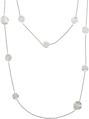 "Michael Aram Botanical Leaf Long Diamond Station Rhodium Necklace, 36""L"