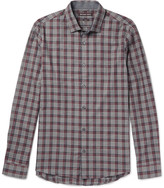 Michael Kors - Reece Slim-fit Checked Cotton Shirt