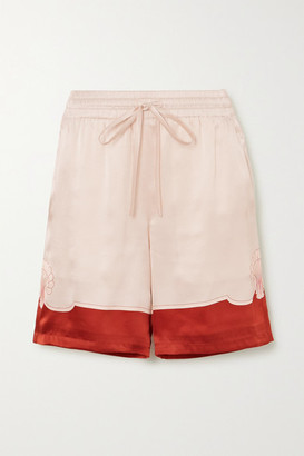 Casablanca Printed Silk-satin Shorts - Red