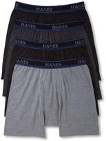 "Hanes Platinum Men's Underwear, ComfortBlend 6"" Short Leg Boxer Brief 4 Pack"