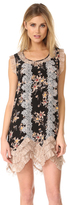 Anna Sui Wildflower Print Dress