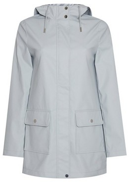 Dorothy Perkins Womens Light Blue Pu Raincoat, Blue