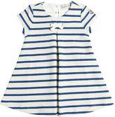 Moncler Stripe Reverse Cotton French Terry Dress