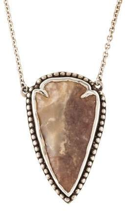 Pamela Love Jasper Arrowhead Pendant Necklace