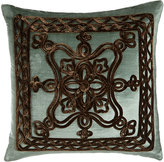"Dian Austin Couture Home Brompton Court Passementerie Velvet Pillow, 19""Sq."