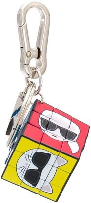 Karl Lagerfeld Paris Rubik's Cube keyring