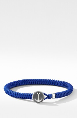 David Yurman Maritime(R) Anchor Station Black Nylon Bracelet