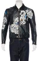 Alexander McQueen 2016 Painted Leather Jacket w/ Tags