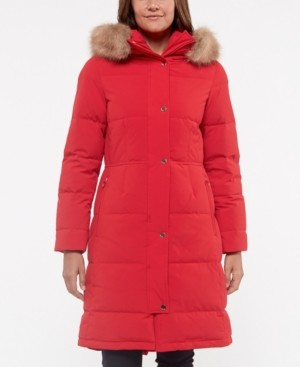 Kate Spade Faux-Fur-Trim Hooded Down Puffer Coat