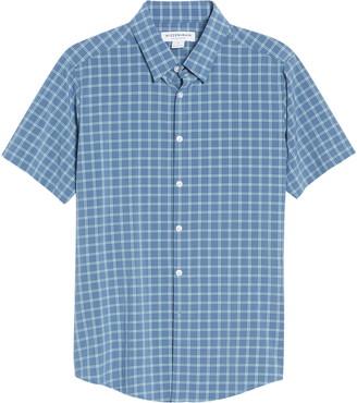Mizzen+Main Mizzen + Main Lightweight Leeward Trim Fit Check Performance Short Sleeve Button-Up Shirt