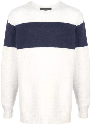 The Elder Statesman Stripe Detail Cashmere Jumper