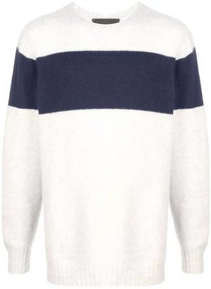 The Elder Statesman stripe detail cashmere jumper