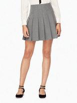 Kate Spade Pleated twill skirt