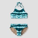 Vanilla Beach Girls' High-Neck Bikini - Lagoon